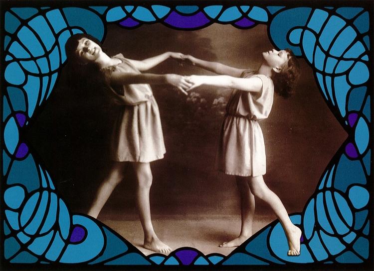 Postikortti Lasten tanssi, sininen